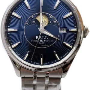 Ball Trainmaster Moon Phase Blue Dial NM3082D-SJ-BE