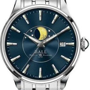 Product photo of Ball Trainmaster Moon Phase 40mm NM3082D-SJ-BE