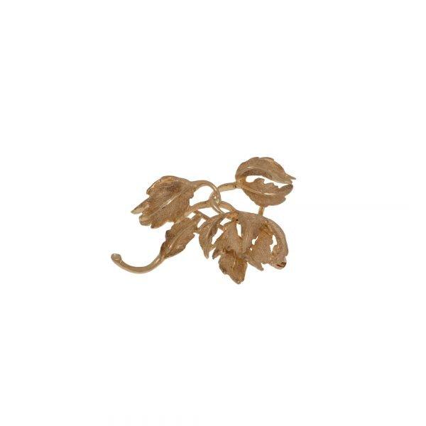 14Kt Yellow Gold Flower Shape Broach Pin