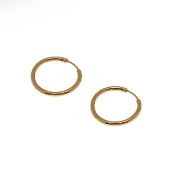 14Kt Estate Hoop Earrings
