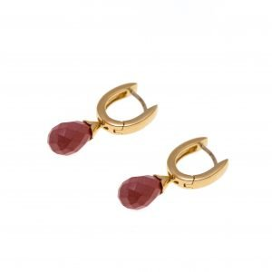 18Kt Yellow Gold and Coral Dangle Earring