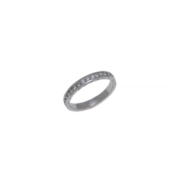 Platinum Estate Channel Set Diamond Ring
