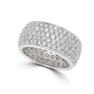 18kt White Gold Pave Set Eternity Style Ring