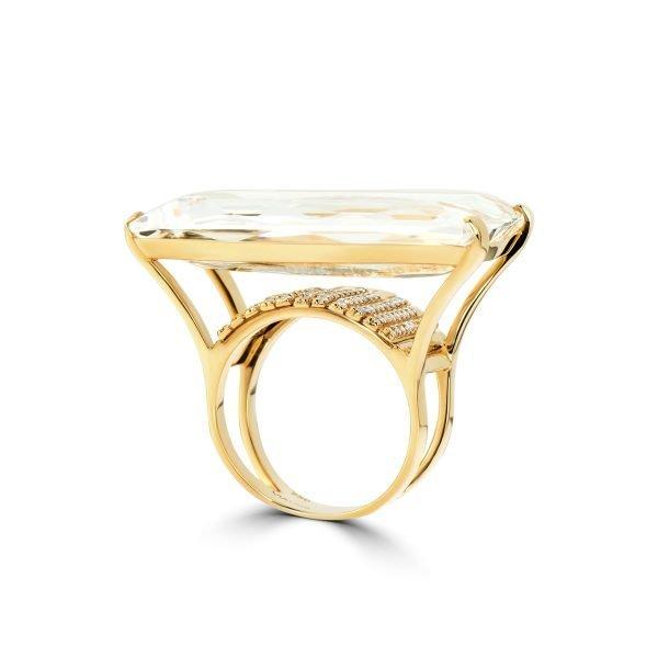 18kt Handmade Rose Gold Diamond Ring