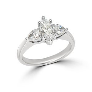 Natural Marquise and Pear Shape Diamond Ring